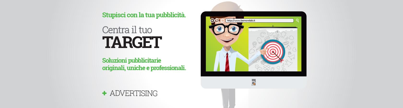BeMoreLab. Soluzioni pubblicitarie originali, uniche e professionali.