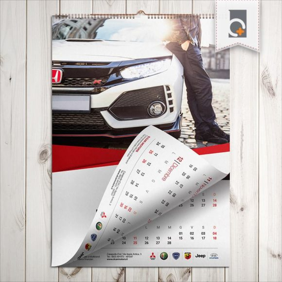 Portfolio: calendario da tavolo D.Car Motors Concessionaria Honda