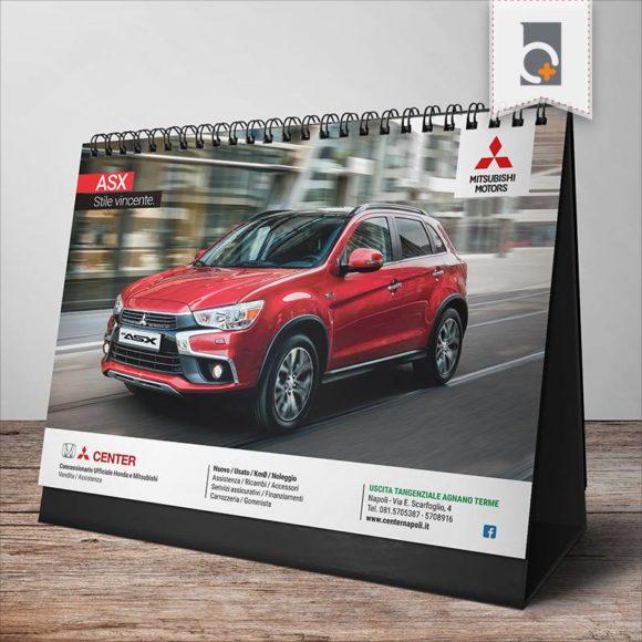 Portfolio: calendario da tavolo Center Napoli Concessionaria Mitsubishi