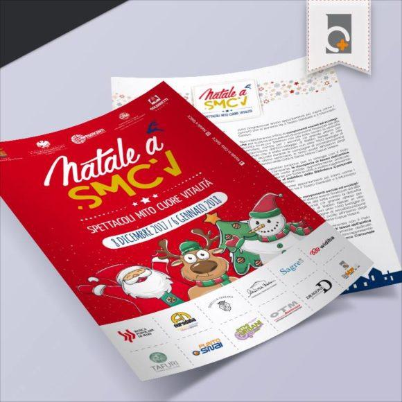 Portfolio: volantino Natale a SMCV 2017
