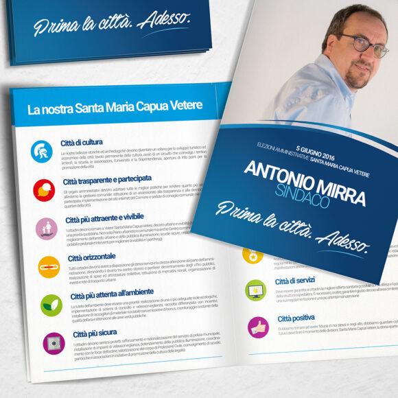 BeMoreLab. Portfolio marketing politico. 2016: Antonio Mirra, sindaco di Santa Maria Capua Vetere. Programma elettorale.